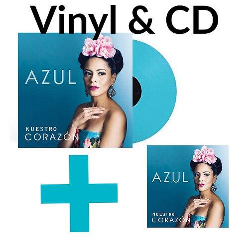 Vinyl + CD Bundle Azul Nuestro Corazón