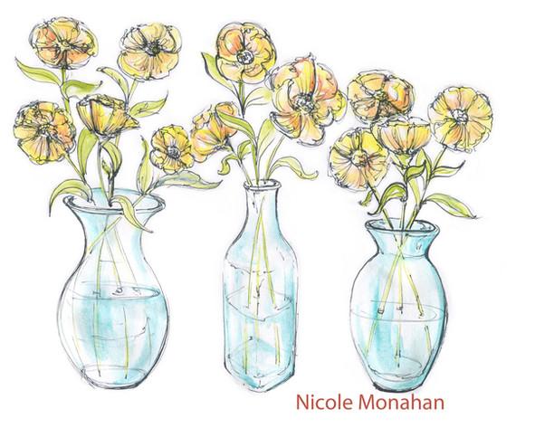Nicole Monahan flowers in a vase