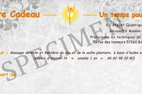 Carte cadeau - Atelier Quantique - Soins énergétiques