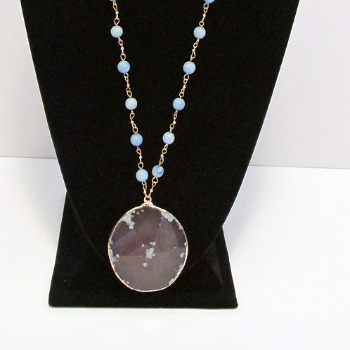 Queen Earth Blue Beads (Necklace Only)