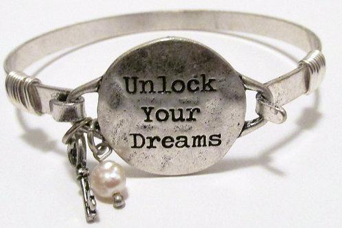 Queen Unlock Your Dreams Bracelet (Lock/Latch) Silver