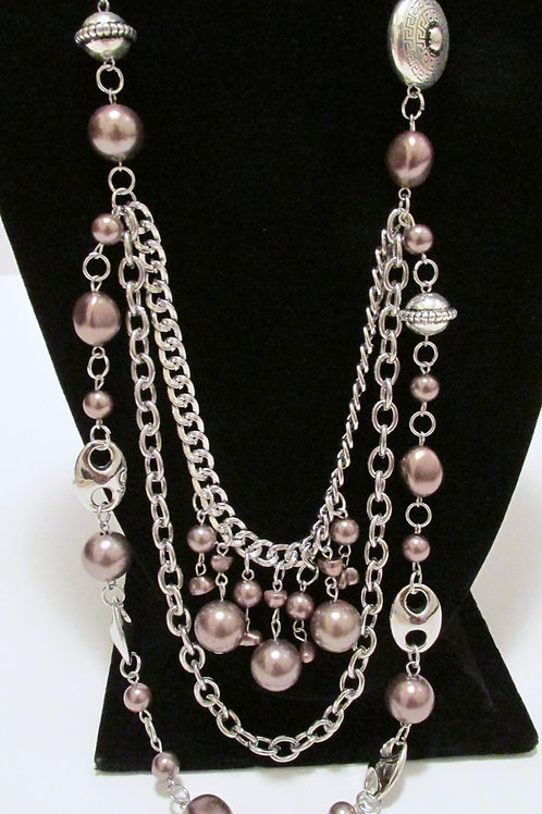 All The Trimmings Brown Necklace Set - Paparazzi
