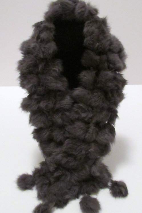 Queen Kitty Gray Scarf (Faux Fur)