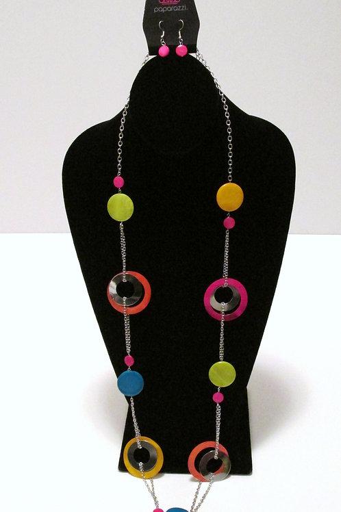Kaleidoscopically Captivating Multicolor Necklace Set- Paparazzi