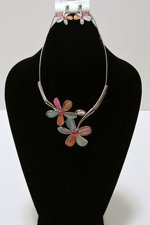 Queen Summer Flowers Necklace Set