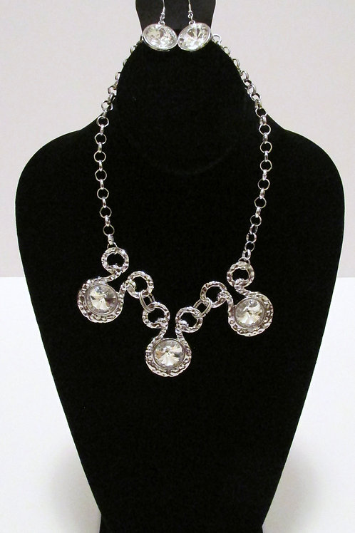 Hypnotized Silver Necklace Set Paparazzi
