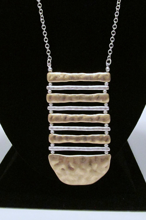 Queen Silver and Golden Ladder Necklace Set