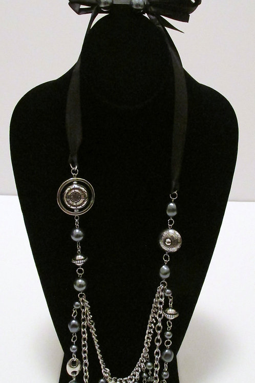 All The Trimmings Black Necklace Set - Paparazzi