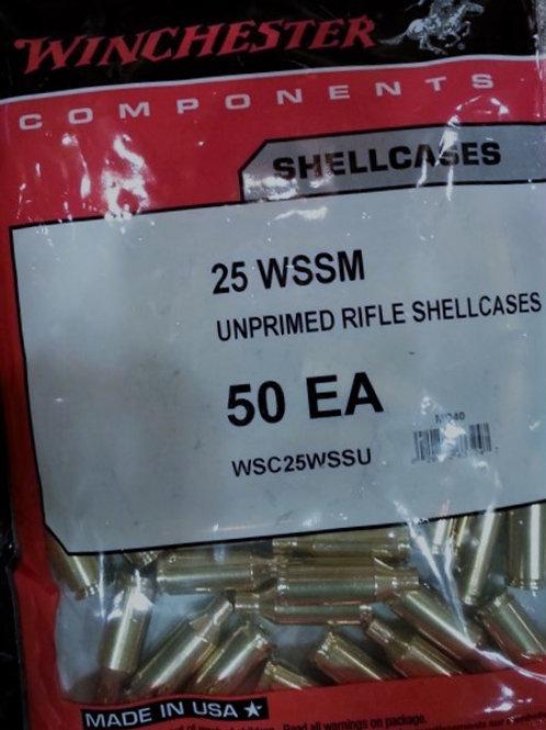 25 WSSM Winchester Brass (New)