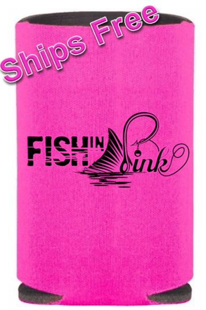 Fish in Pink Koozie