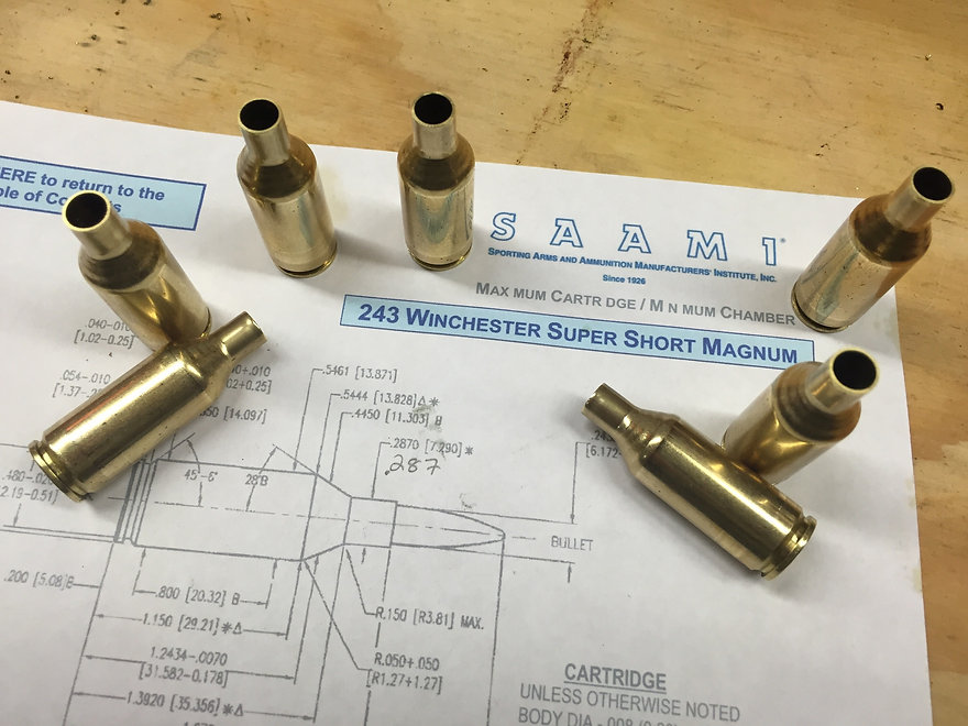 Reformed WSSM Brass & Previously Fired Rifle Brass
