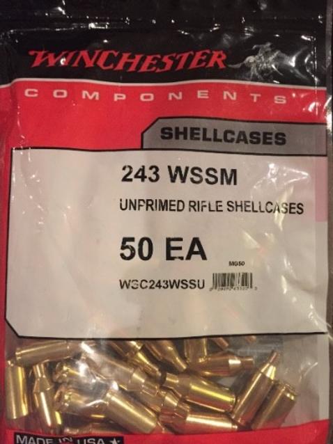 243 WSSM Winchester Brass (New)