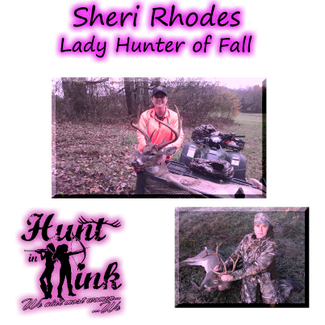 Sheri Rhodes; Fall 2015 Lady Hunter