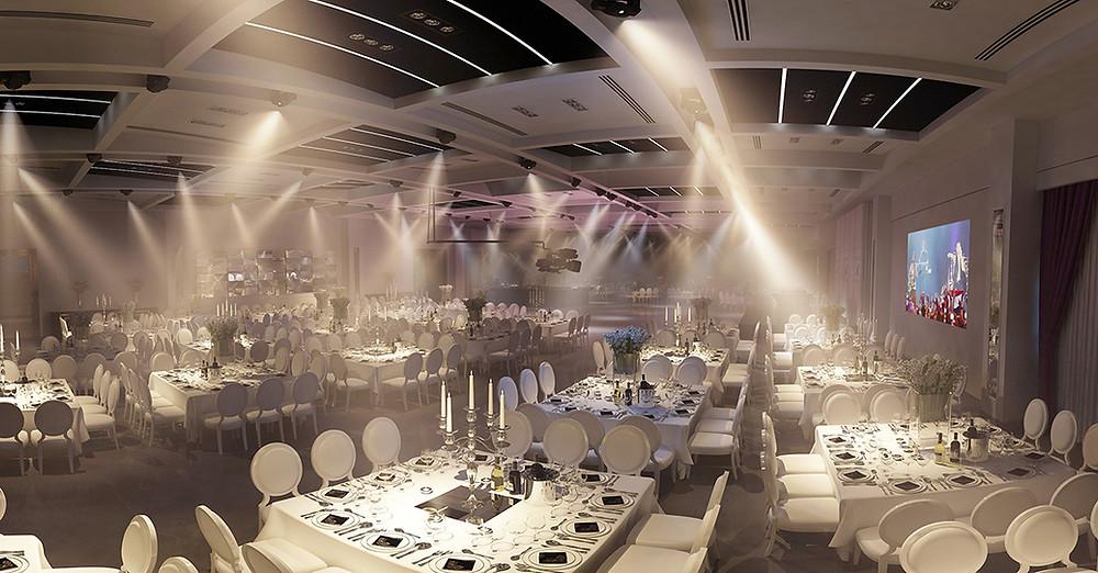 עיצוב אולם אירועים בלג'יו בת ים - סטודיו ניר יפת