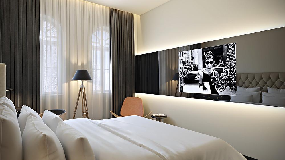 עיצוב חדר מלונאי - סטודיו ניר יפת