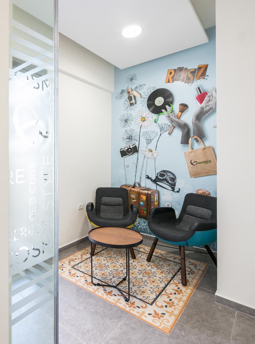 עיצוב פינת הסבה בחלל משרדים - עיצוב סטודיו ניר יפת