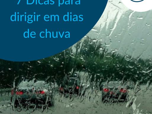 7 dicas para dirigir em dias de chuva