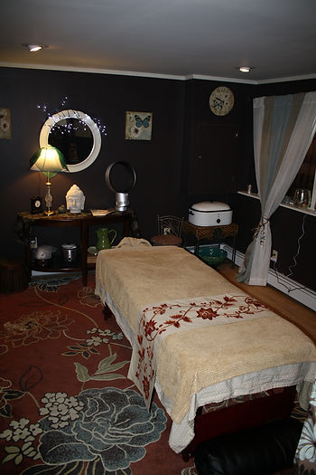 Our Massage Therapy Room incorporating Nikken products.