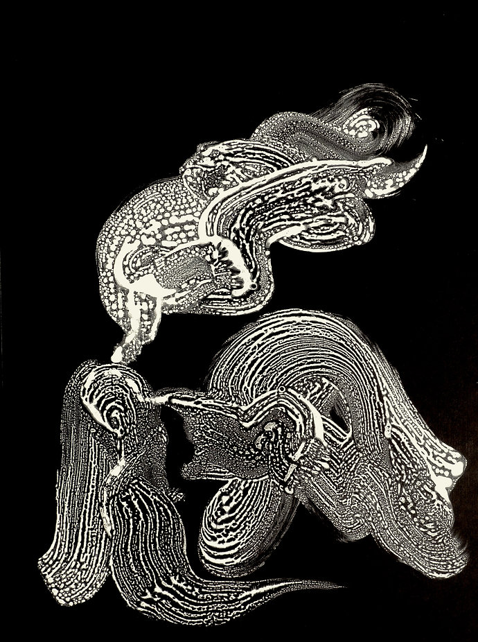 Photonic Code #XXII, 2012, 40 in x 30 in