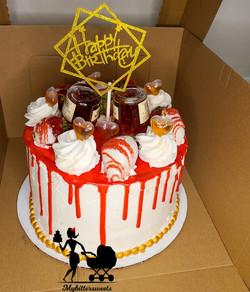 Hennessey Birthday Cake