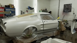 67 Mustang White Pearl