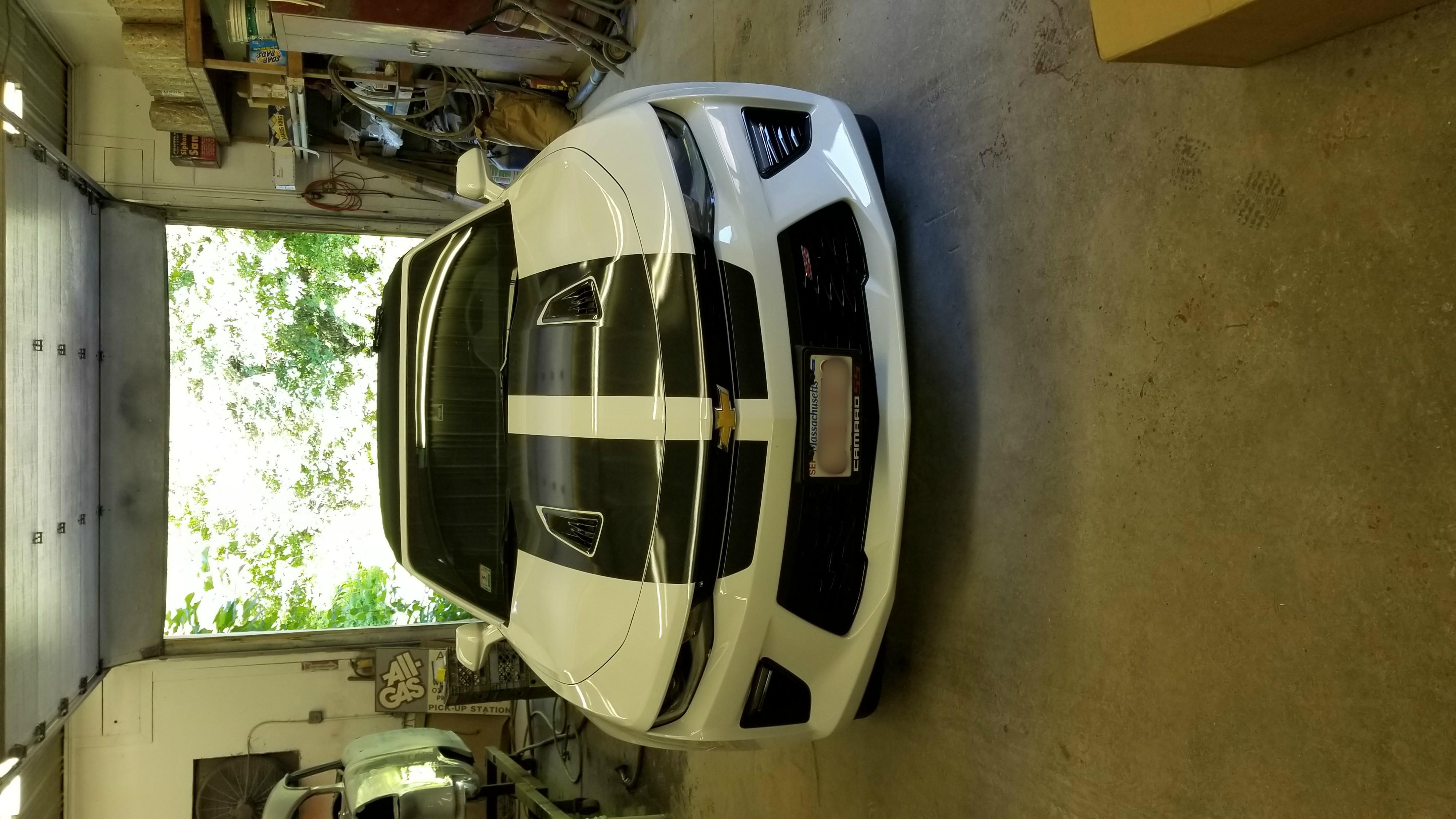 2018 White Camaro
