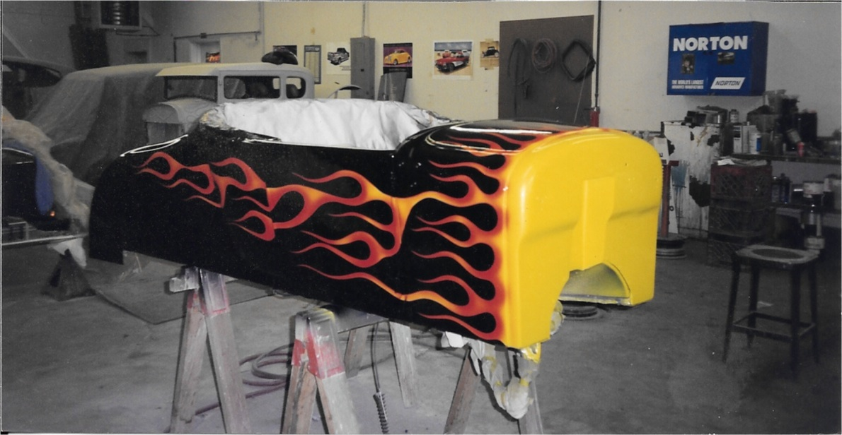 1926 T Bucket with Flames
