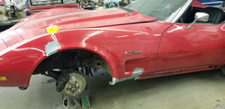 76 Corvette body repair