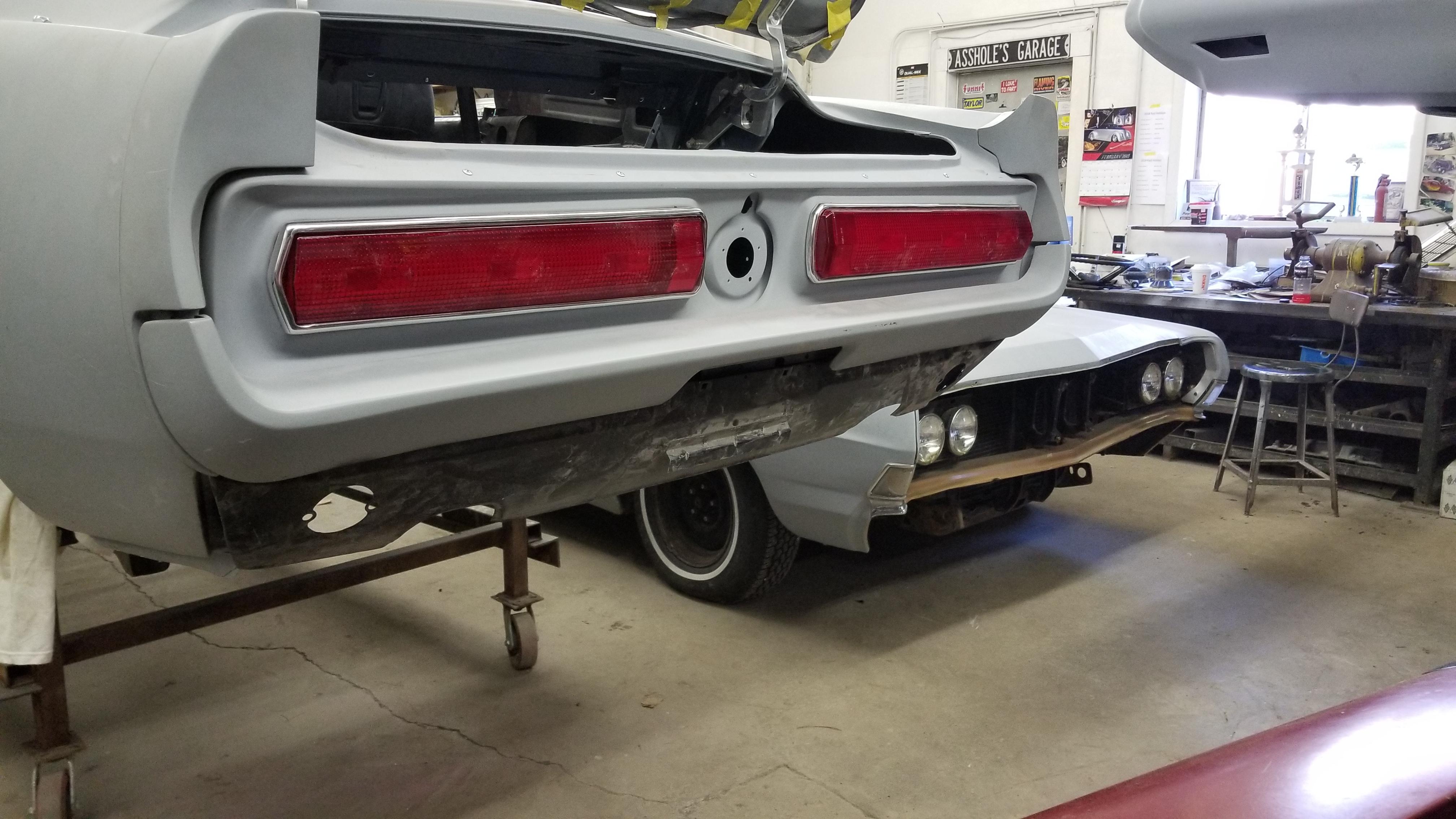 67 Mustang Rear