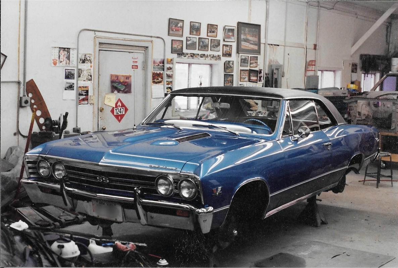 Blue 67 Chevelle