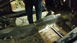 Replacing the floor pan