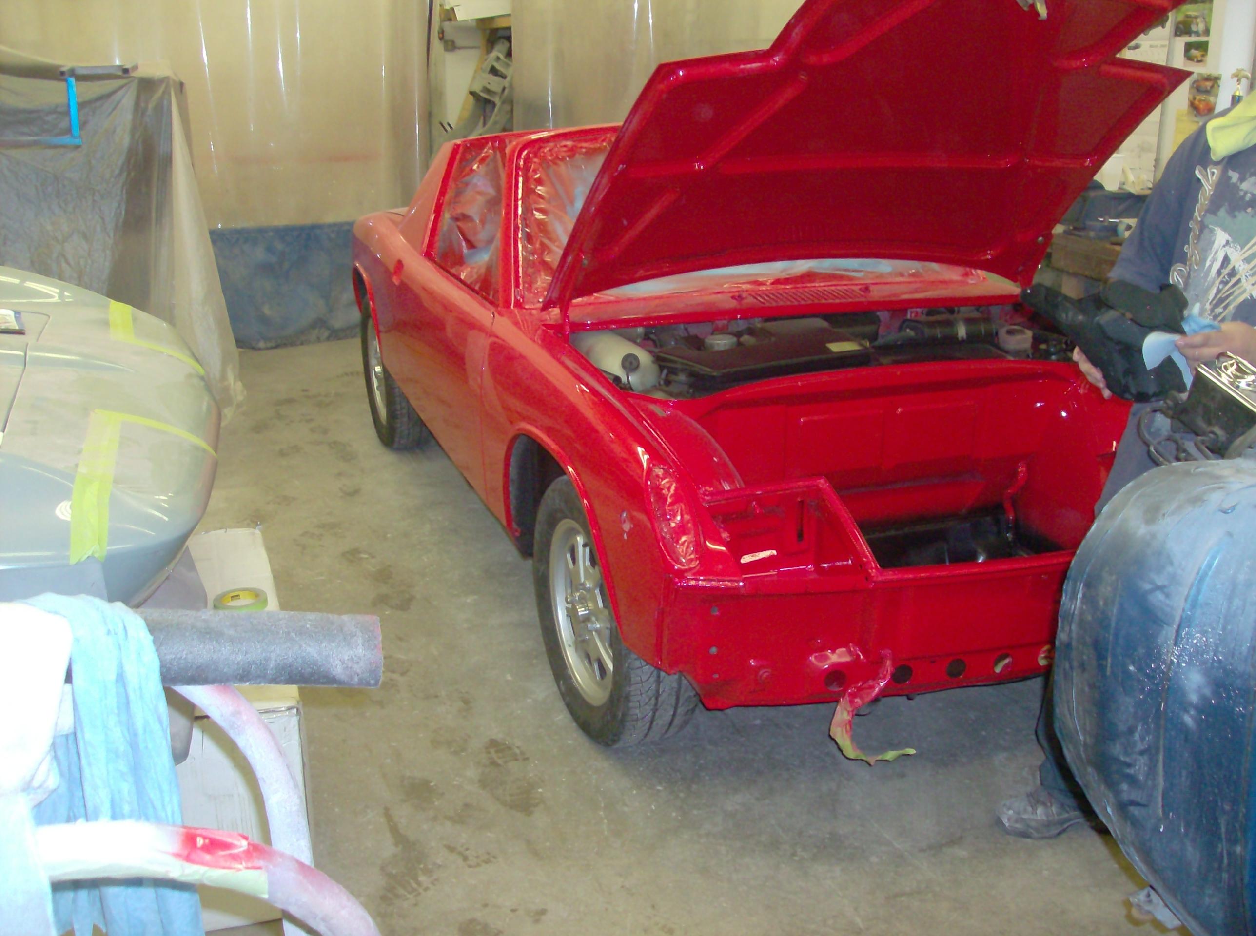 Red Porshe 914