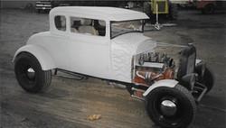 1929 Model A flames