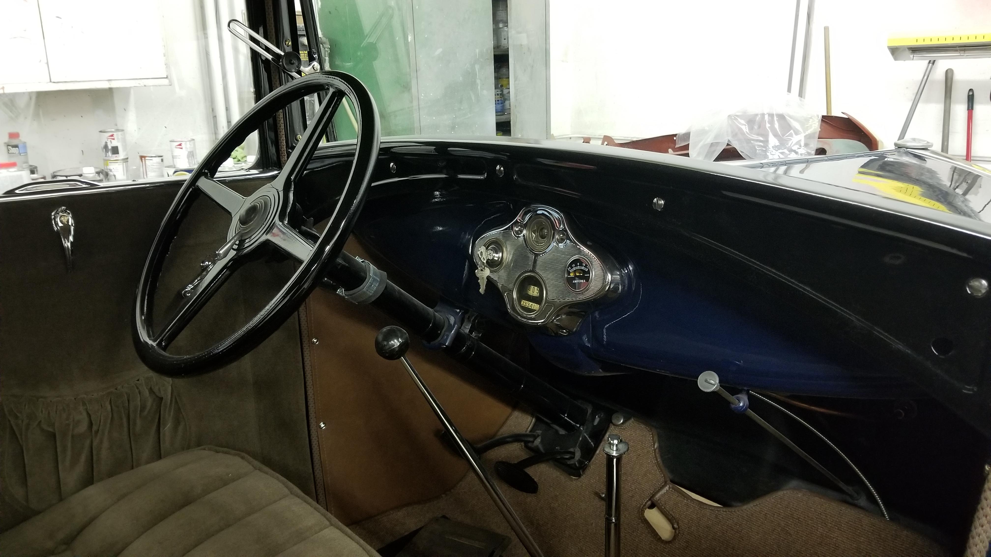 1930 Model A interior