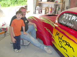 Rick Foy painting Mohegan Sun Car