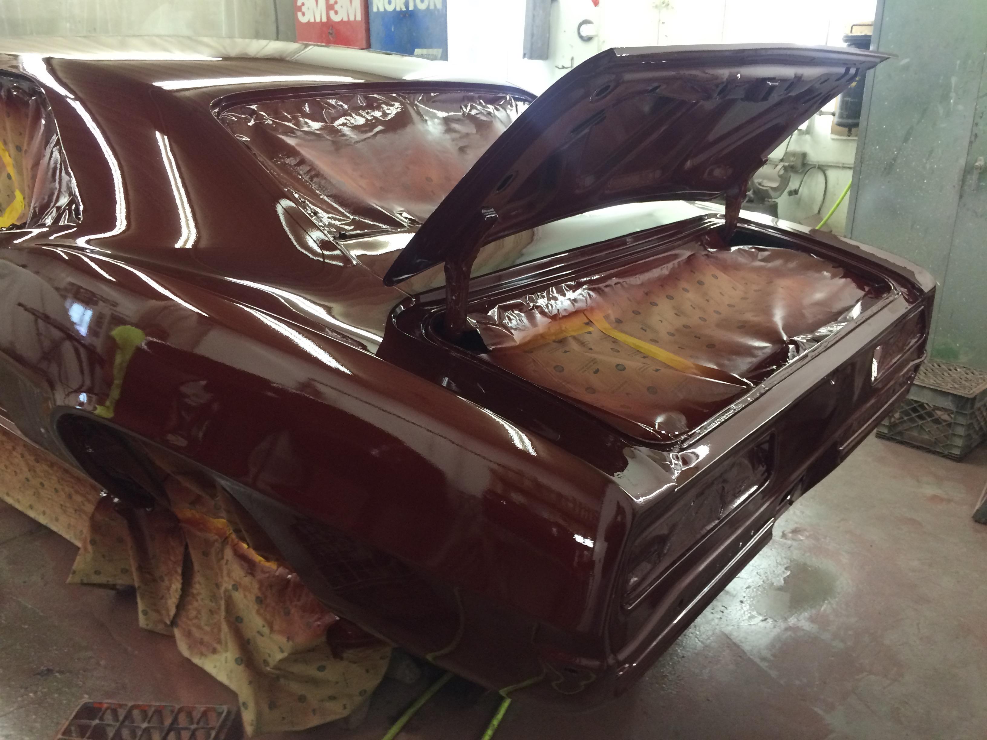 Maroon Camaro