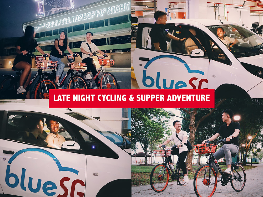 Late Night Cycling & Supper Adventure with BlueSG and SG Bike
