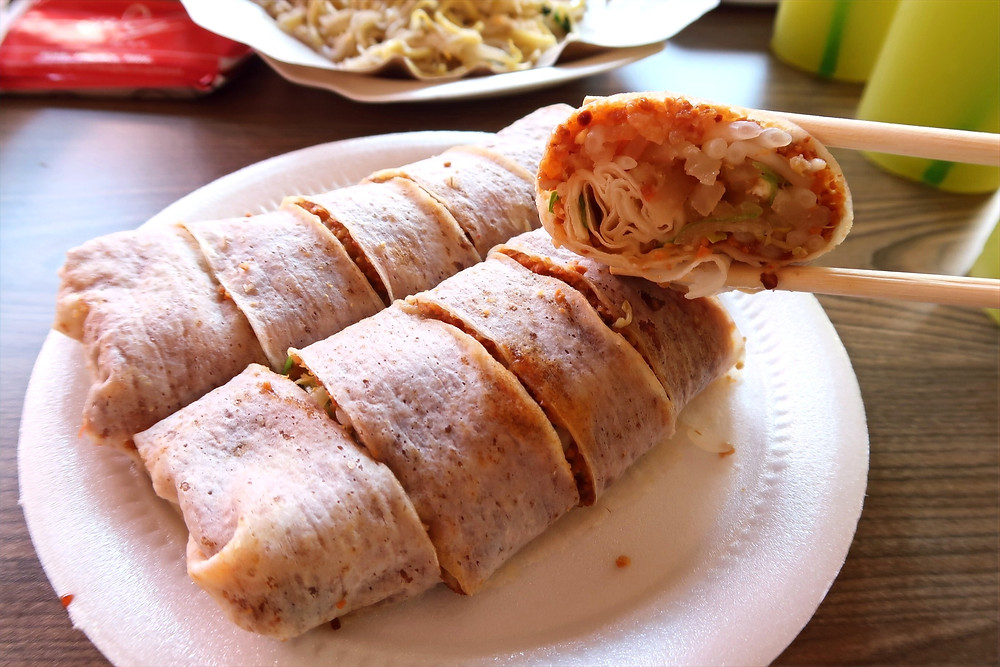 Plate of popiah from Lagoon Carrot Cake