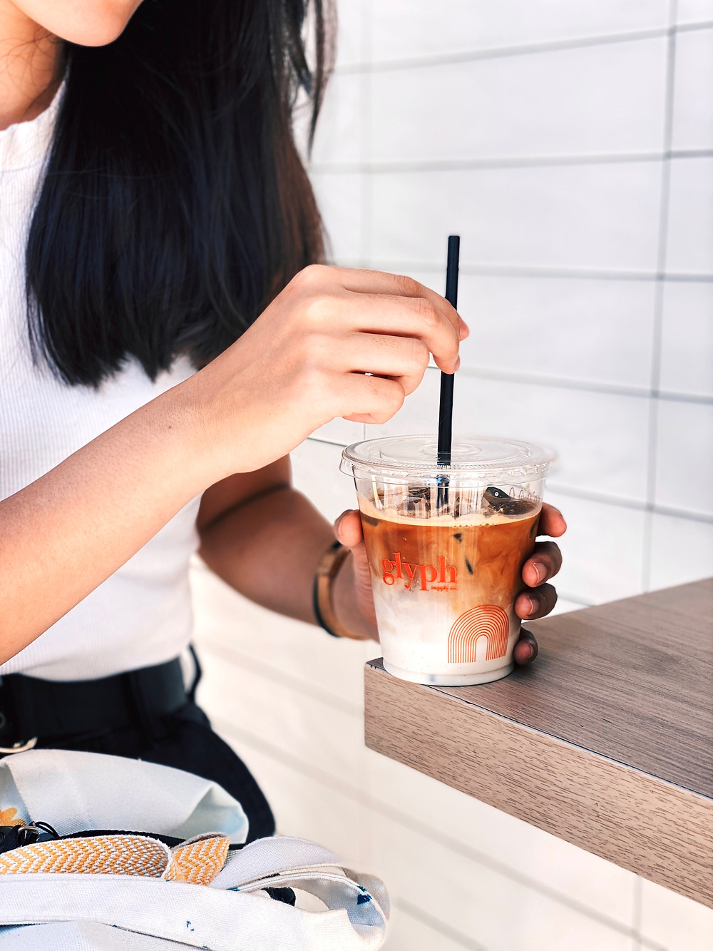 Cup of ice coffee