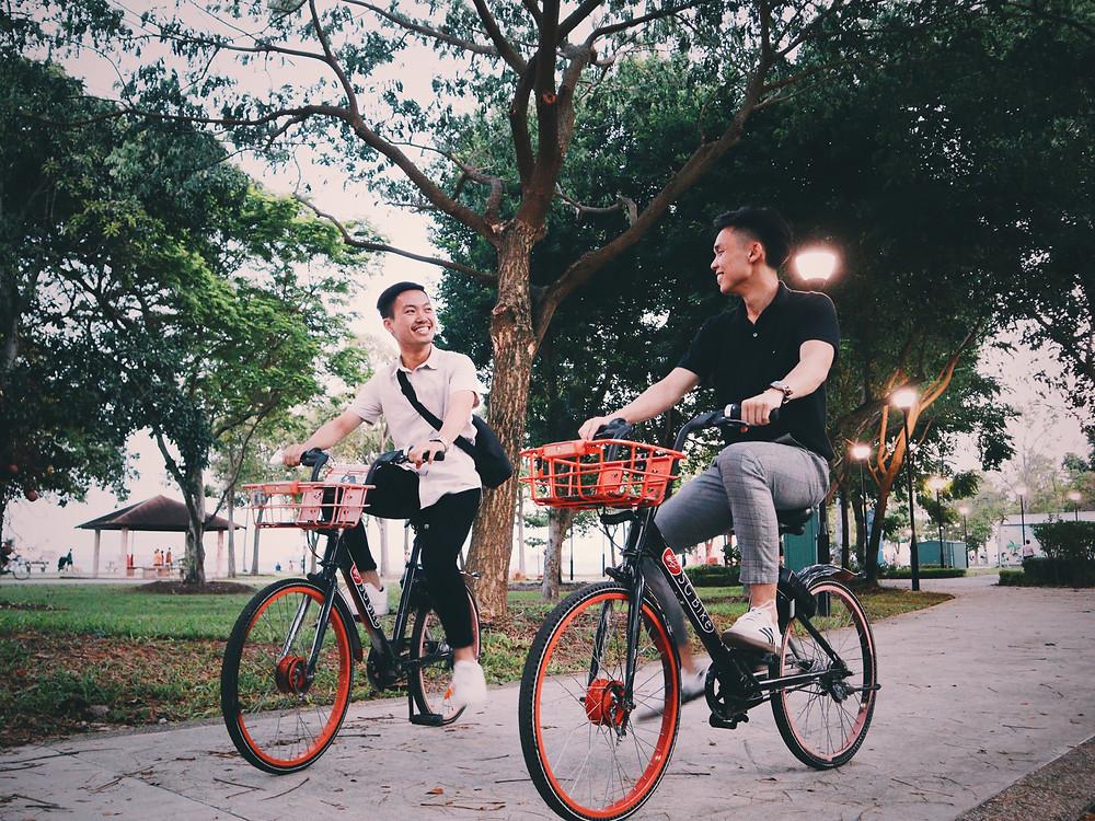 Cycling on SG Bike at ECP