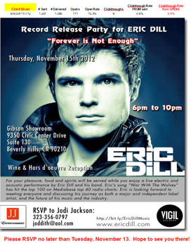Eric Dill-Release Party Invitation