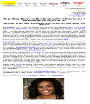 Cheryl Barnes-Award Nomination Announcement-National