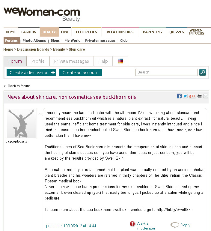 Blog Post on WeWomen.UK