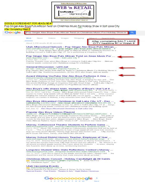 Google Front Page-Salt Lake City #1
