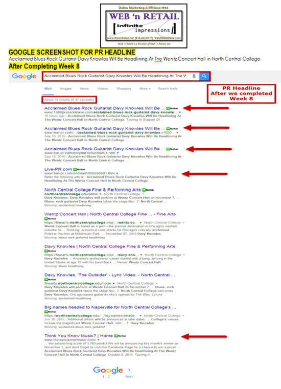 Front Page Google #1