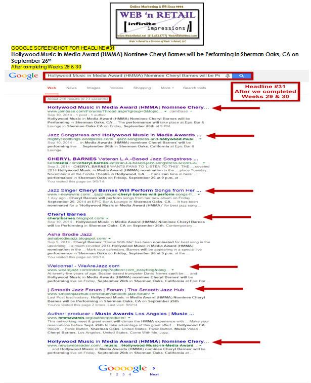 Google Front Page-Sherman Oaks, CA