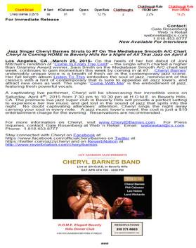 Cheryl Barnes-Tour Support-Beverly Hills, CA