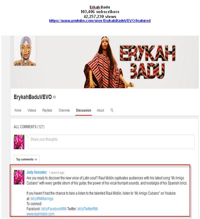 Erykah Badu YouTube Tastemaker Post