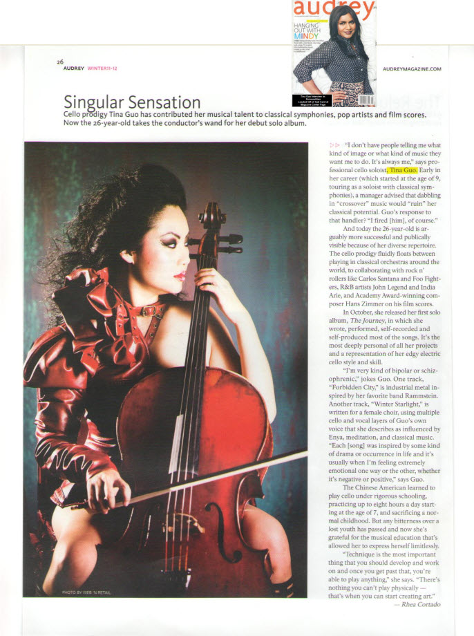 Tina Guo Feature in Audrey Magazine
