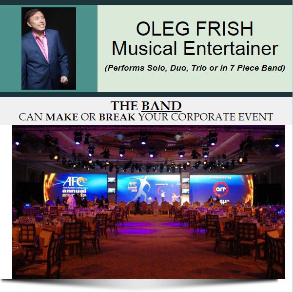 Oleg Frish - Booking Solicitations for Corporation